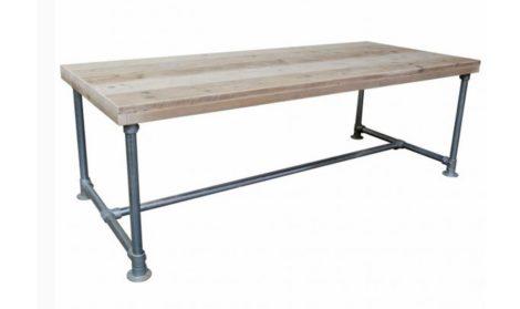 Steigerbuis Tafel Onderstel : Steigerhouten tafel met steigerbuis onderstel kopen